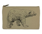 Pencil case stationary polar bear pencil pouch canvas bag pencil holder make up bag school supplies