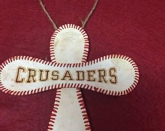 Authentic Baseball cross Ornament