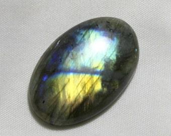 40 carat Natural Labradorite cabochon  Cabochon loose gemstone size 34 mm x 22 mm x 6 mm  approx 0090