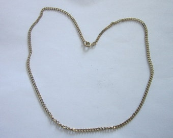 Vintage Gold Tone Chain Necklace 18 inch