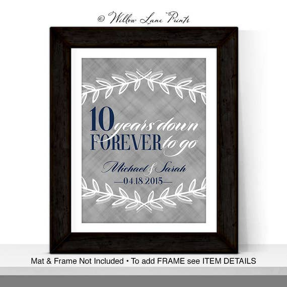 Tenth Anniversary Gift For Him Her Wedding Anniversary Ideas For Wife Husband Tin Anniversary