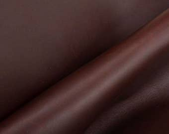 "Journal Cover A5 Rustic Burgundy Oil Tan 14""x8.75""Cowhide 5-6oz Leather smooth DE-52300 (Sec. 8,Shelf 6,A)"