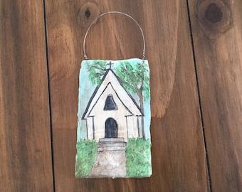 "A mini plaster canvas ""The Church"""