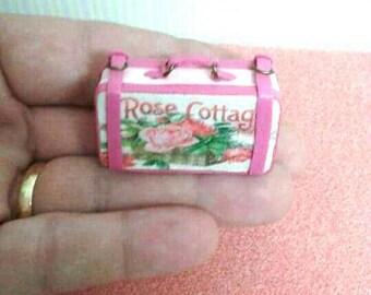 Maison de poupée miniature minable la valise valise valise Esc 01:12, maison de poupée valise