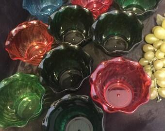 K055  Set of 10 plastic dessert cups