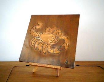 Scorpio Zodiac, Scorpio Decor, Copper Wall Art, Copper Scorpio, Copper  Repoussed Wall Hanging, Copper Art, Scorpion, Scorpio Art