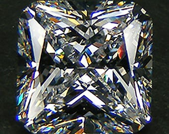 Top Quality  6A Radiant Cut 10 x 10  MM. White Russian Cubic Zirconia CZ Loose Gemstones