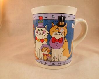 """Valentines mug states """"Purrfect Valentine""""."""