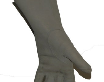 Soft Grey Suede Leather Gloves (vintage 1960s)
