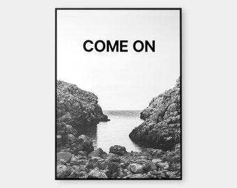 COME ON. Black foil. Photograph by ©Salva López