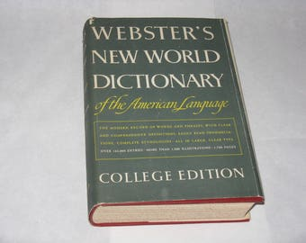 Vintage Webster's New World Dictionary 1960's college edition
