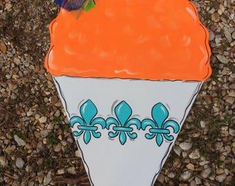 Snowball Door Hanger, Spring,Door Hanger,NOLA,New Orleans, Summertime, Summer