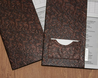 Vegan Leather Refillable Composition Notebook Cover for Composition Book 7.5 x 9.75 - Upholstery Weight Fabric Vintage-Look Floral Design
