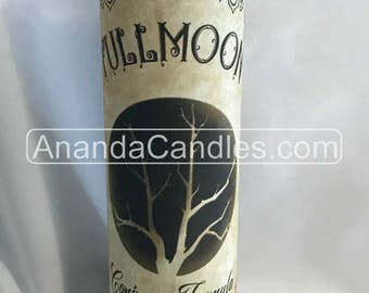Hoodoo Voodoo Full Moon Fixed 7 Day Candle Witchcraft