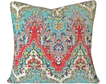 India Palace Sari Decorative Pillow Cover - Waverly - Both Sides - 10x20, 12x16, 12x20, 14x18, 14x24, 16x16, 18x18, 20x20, 22x22, 24x24