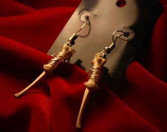 Bone Earrings.