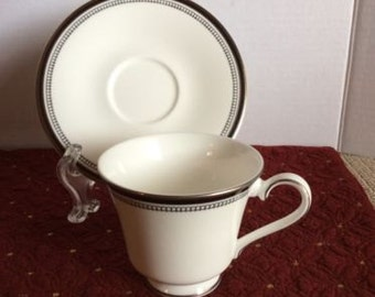 Sarabande by Royal Doulton Fine Bone China Footed Tea Cup And Saucer Set