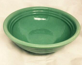 Vintage Signed Bauer Green Glazed Arts and Crafts Art Pottery Bowl - Medium Size