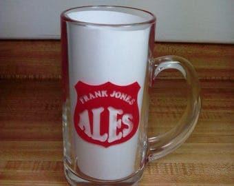 Vintage Frank Jones Ale Beer Mug, Frank Jones Brewery, Portsmouth NH, Beer Advertising Mug, Breweriana, Mancave Decor, Vintage Barware, HTF