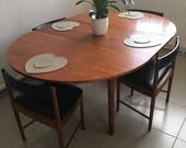 A H Mcintosh Vintage Antique Dining Table and 4 Chairs