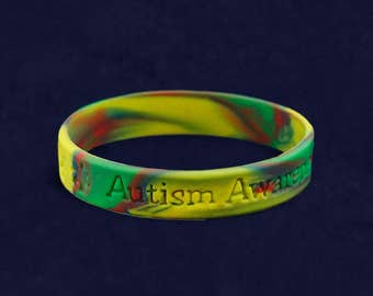 Autism Silicone Bracelet - Adult Size (RE-SILB-2)