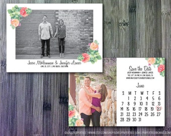 Flower and Succulent Save the Date | SD23