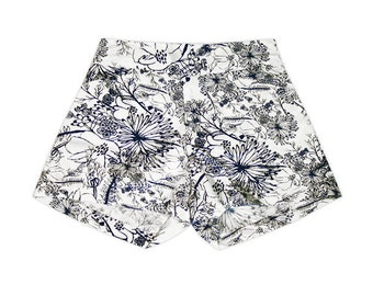 Navy Etched Floral Shorts Girls Size 4