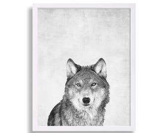 Wolf Print Animal Portraits Large Art Kids Room Art Prints Animal Prints Wolf Pack Nursery Room Nursery Art Nursery Prints Nursery Decor