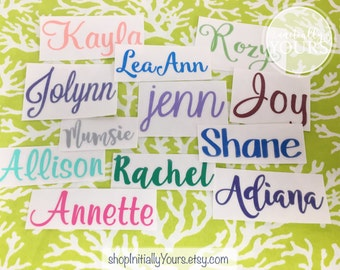Personalized Name Vinyl Decal, DIY Vinyl Stickers, Tumbler Cup Decals, Laptop Sticker, Custom Vinyl Decal, Glass Decals, DECAL ONLY