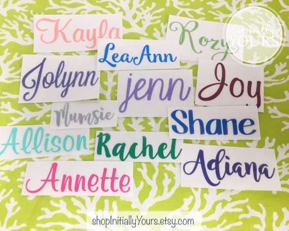 Personalized Name Vinyl Decal DIY Vinyl Stickers Tumbler Cup - Custom vinyl stickers for cups