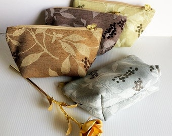 Set of 4 Zipper Pouches, Cosmetic Bag, Pouch Tutoial, Small Makeup Bag, Zipper Pouch, Zipper Pencil,Toiletry Bag, lady accessories, gift