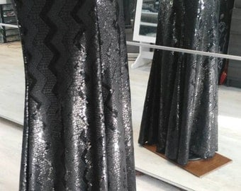 Mermaid sequin black skirt