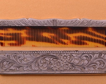 Silver Vintage Hair Comb (953q37)