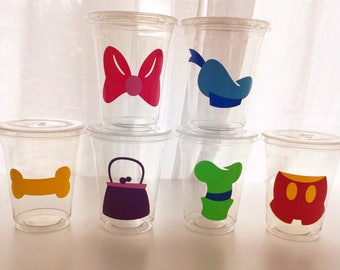 12 DIY Mickey Mouse Clubhouse Party Cup Vinyl, Mickey Mouse Birthday Party, Mickey Clubhouse Birthday Party Decor, Minnie Mouse Birthday