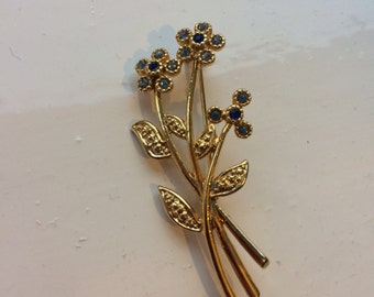 Movitex Flower Arrangement Vintage Brooch