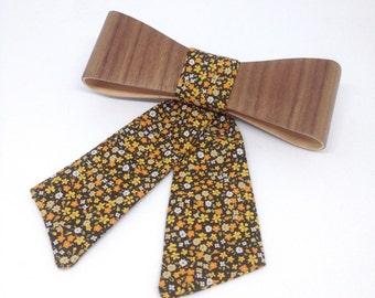 Ladies Wooden bow tie - Walnut Slim