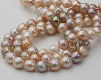 9-12mm Nuclear Pearl Strand, Edison Pearl Strand,Mixed Color,AA2 quality