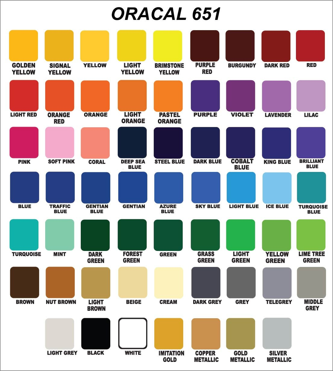 12x24 Oracal 651 Glossy Vinyl Crafts Hobby