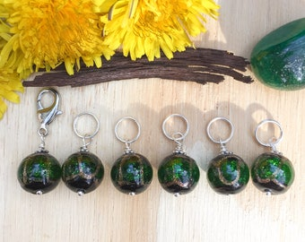 Forest Moss Stitch markers | knitting stitch markers| knitting Accessory | Knitting Notions