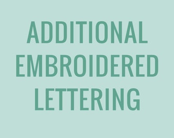 Additional Embroidered Lettering Fee