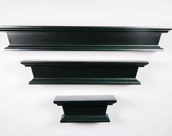 "Floating Wood Shelves – Distressed Featured (3"" Deep) – Floating Shelves – Lengths 8"", 16"", 22"""