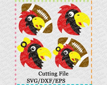 EXCLUSIVE SVG eps DXF Cutting File Cardinal Football svg, mascot svg, football svg, falcon svg, seahawk svg, cardinal svg, falcon cut file