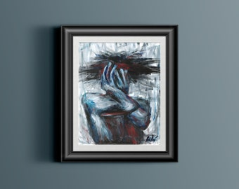 Mask of Hands - Framed Print