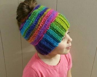 Messy bun hat