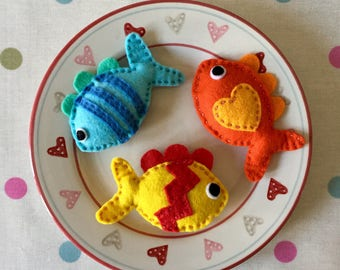 Fish Cat Toy - Catnip Toy - Felt Cat Toy - Fishy Cat Toy - Catnip cat toy