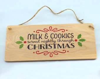 Rustic Christmas Wood Sign - Holiday Wall Decor