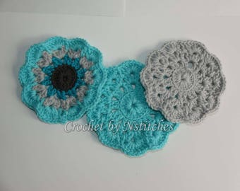 Crocheted Coasters Set of 4