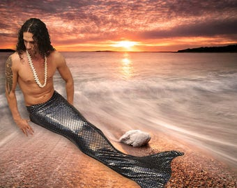 Merman Tail  Walkable/Swimmable with Invisible Zipper Bottom !Add Monofin*** FAST SHIPPING!! Choose Any Color!
