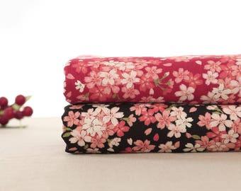 110cm / 43 inch Width, Flower Floral Cotton Fabric, Half Yard