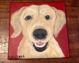 Dog Portrait- Custom Pet Portrait- Large Dog- Dog Painting-Lab- Golden Retreiver- Labrador Retreiver- Pit Bull- Gift for Dog Lover- Pet Art